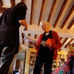 Granny Faith handing out presents