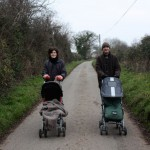 It wasn't so long ago Phil and sister Holly were in the buggies, not pushing their own kids!