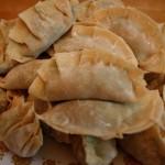 homemade dumplings ready for the pot