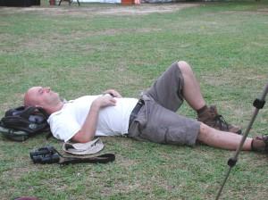 Phil birdwatching in his sleep©Sutari Supari