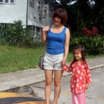 Olive with her beloved Yi Yi (aunty)